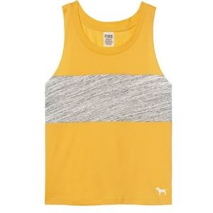 PINK Yellow Muscle Tank
